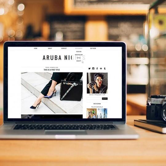 Aruba Nights Blogger Template