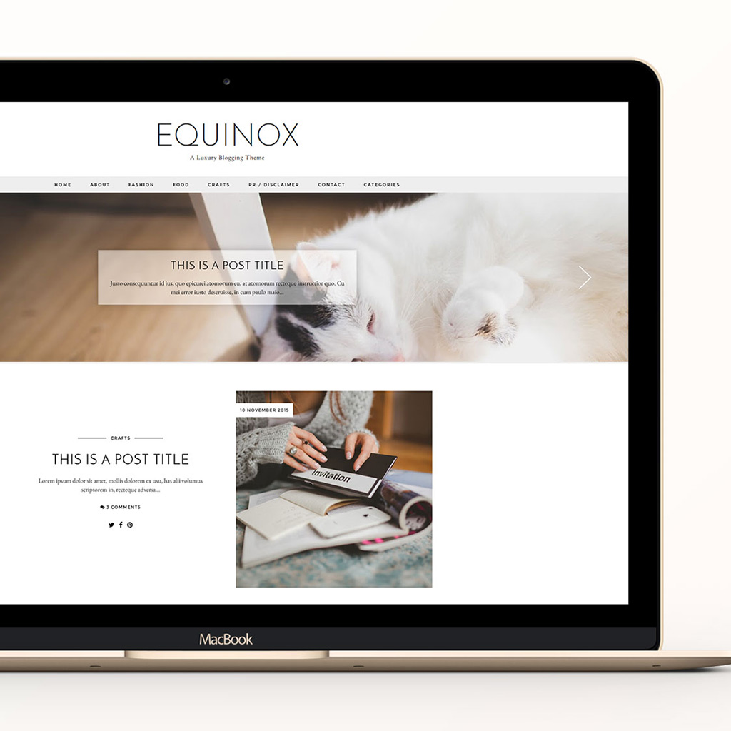 Blog Design: Equinox