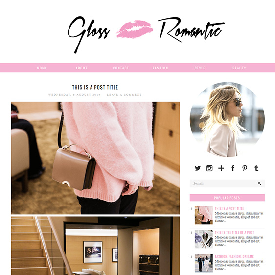 Pink Responsive Blogger Template