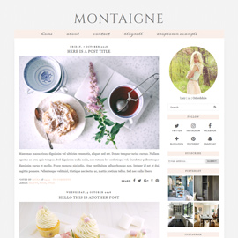 Blogger Template: Montaigne