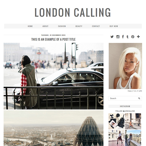 Blogger Template: London Calling