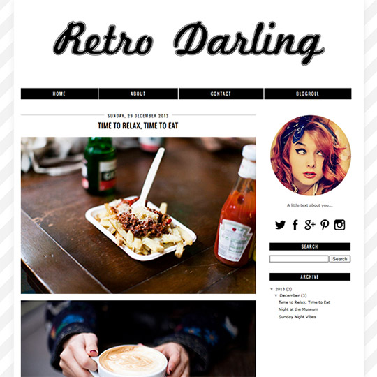 Blogger Template: Retro Darling