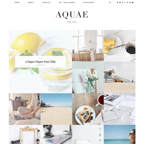Aquae Responsive Premium Blogger Template Blogger Template