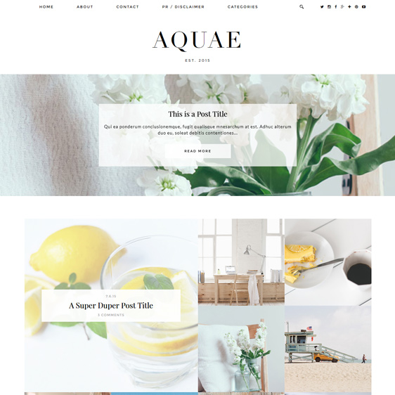 Blogger template with full width slider