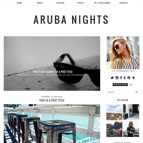 Clean, minimal Blogger template