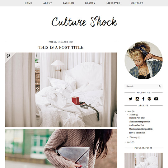 Clean Blogger Templates