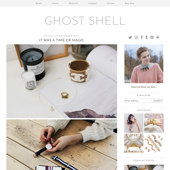 Blogger Template: Ghost Shell