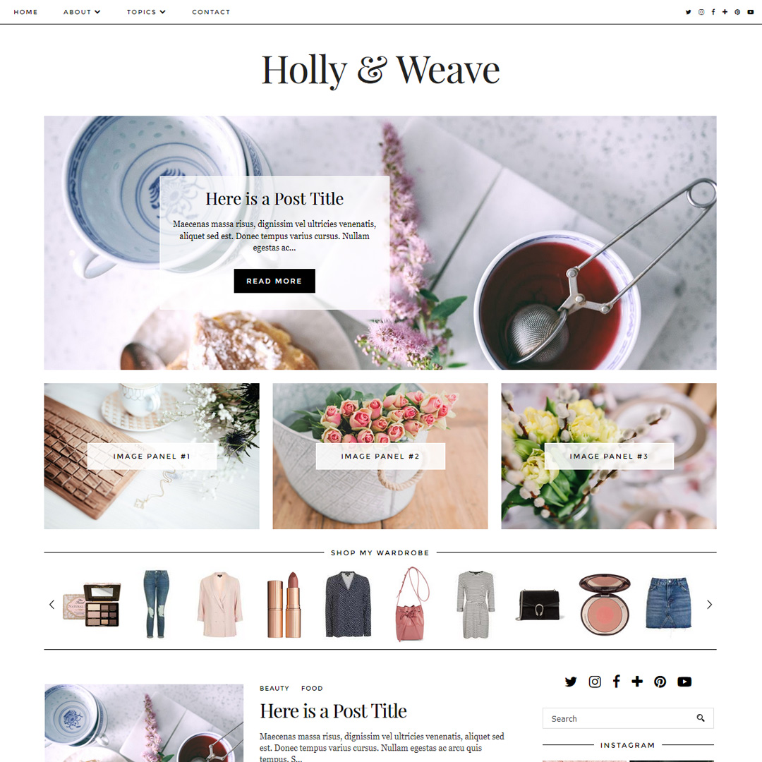 Holly & Weave: A classically styled Blogger/Blogspot template by ...