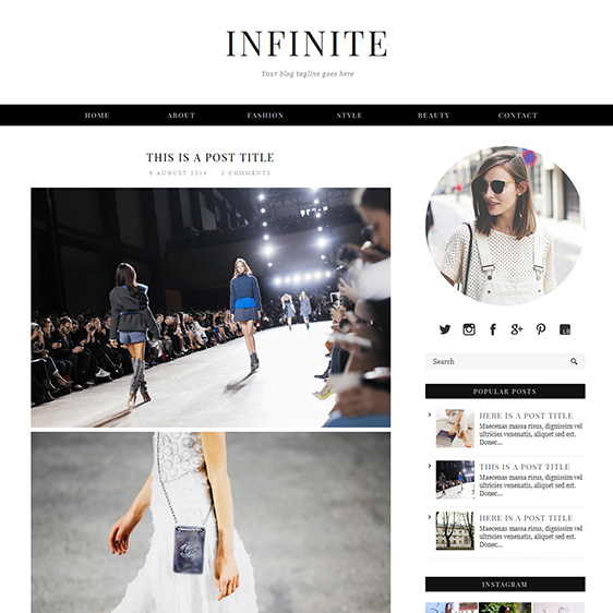 Blogger and Blogspot Template: Infinite