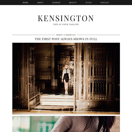 Blogger Template: Kensington