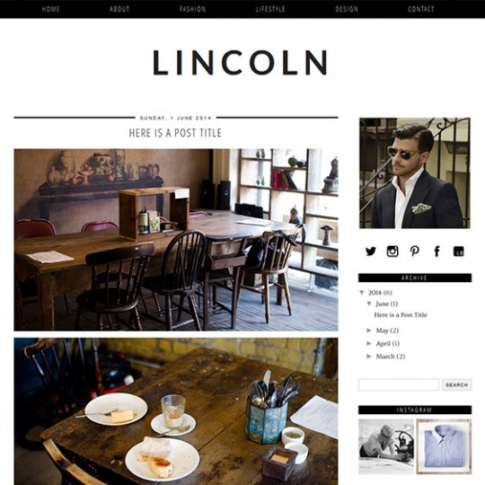 Blogger Template: Lincoln