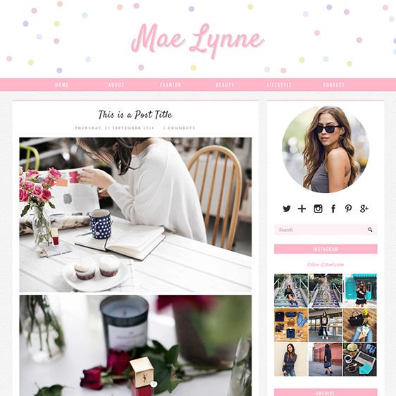 Blogger Template: Mae Lynne