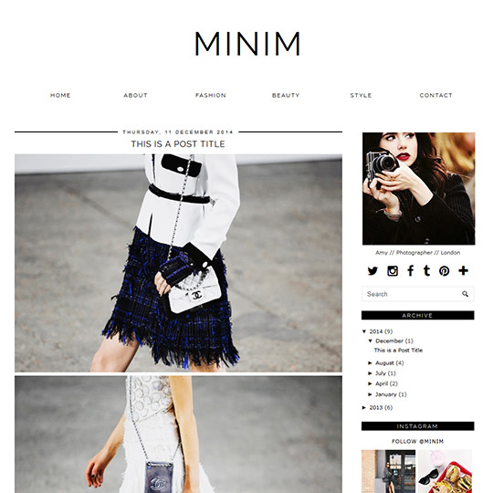 Blogger Template Minim
