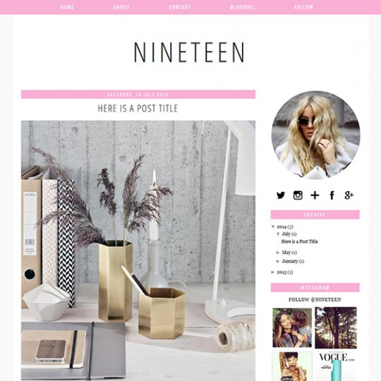 Blogger Template: Nineteen