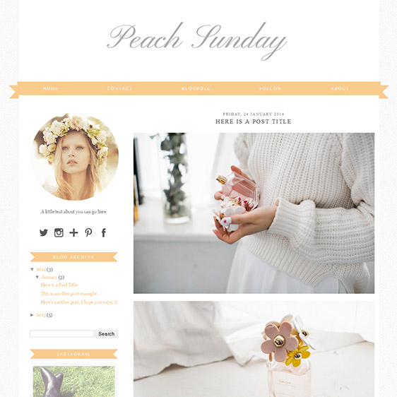 Blogger Template: Peach Sunday