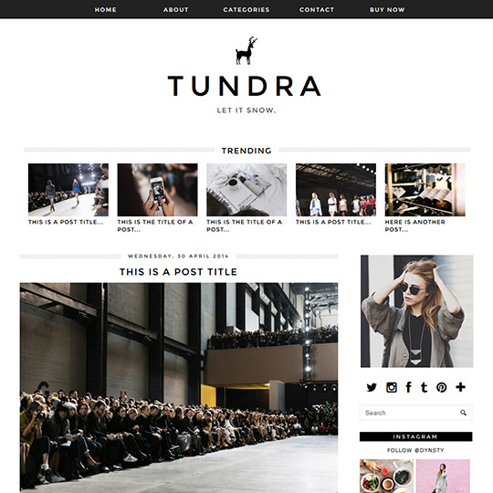 Blogger Template: Tundra