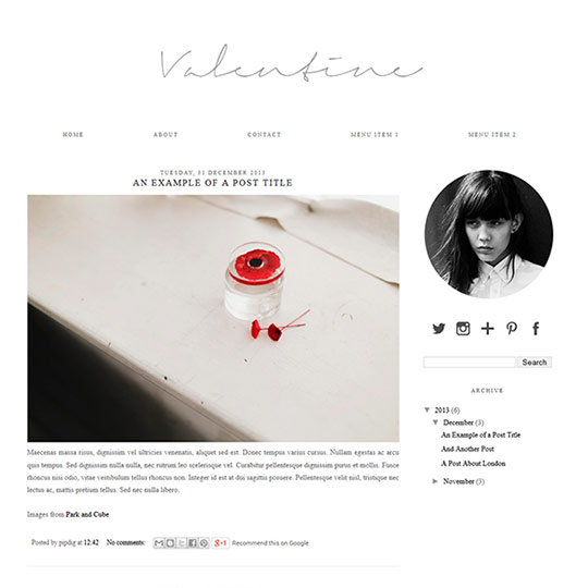 Blog Templates Free | blogger template valentine 540x540