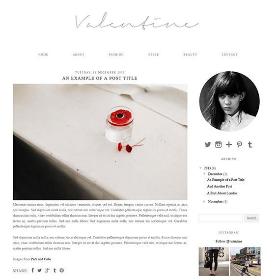 Blogger Template: Valentine