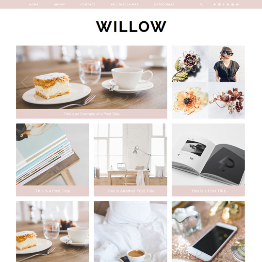 Blogger Template: Willow