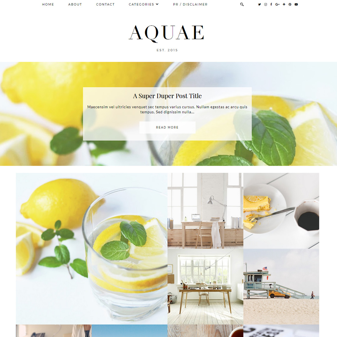 Blogger Theme: Aquae
