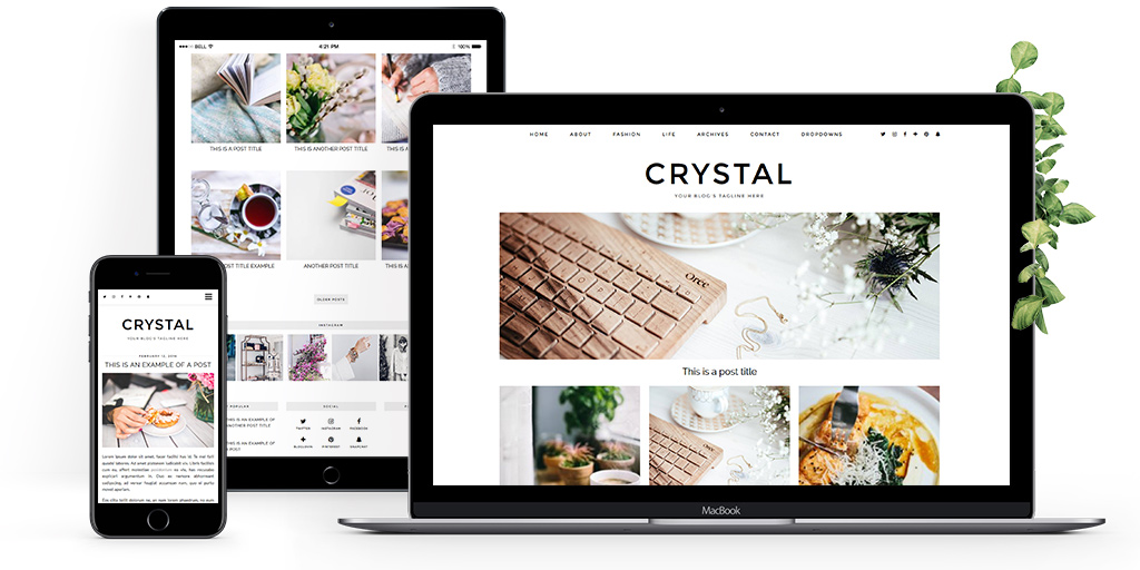 Grid layout WordPress theme
