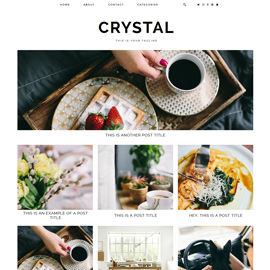 Blogger Template: Crystal