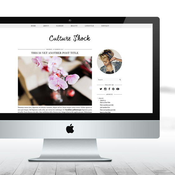 Culture Shock Blog Template