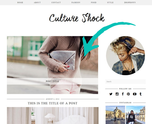 Culture Shock WordPress Theme with Slider