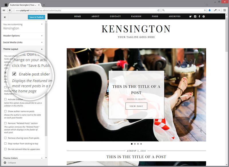 customiser-kensington-layout
