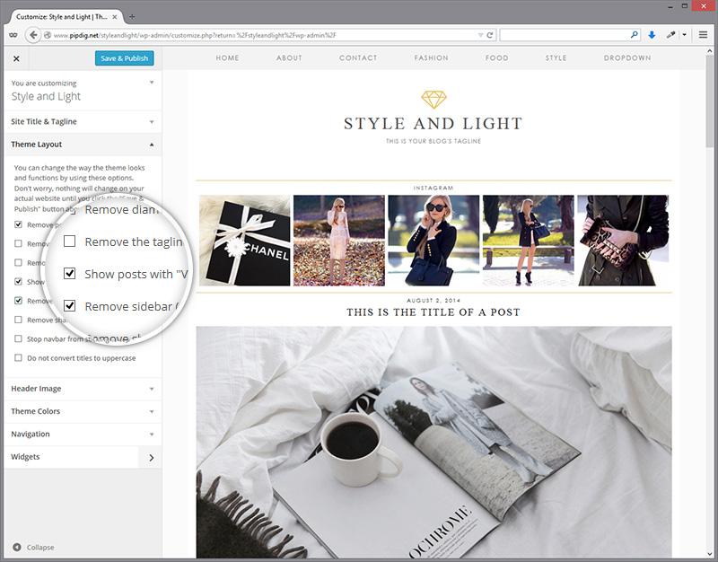 customiser-styleandlight-layout