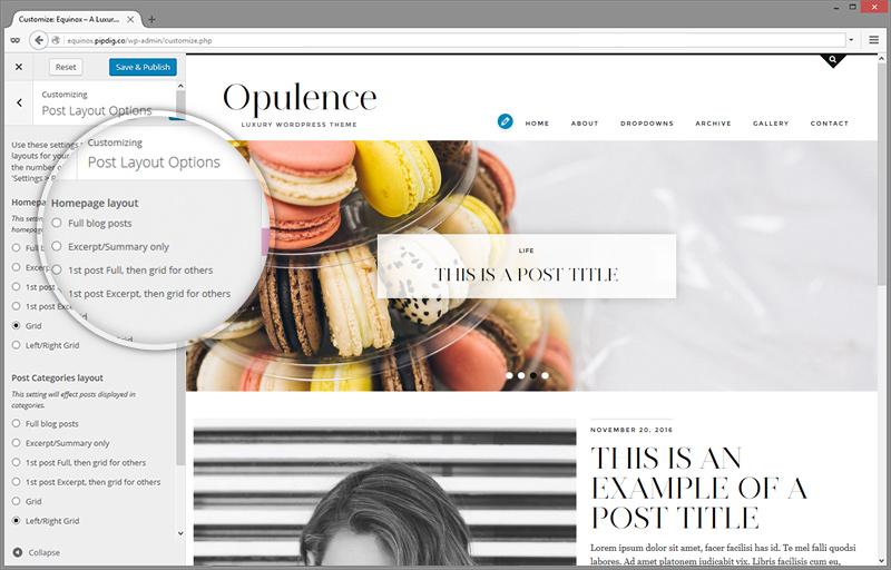 WordPress Theme: Opulence