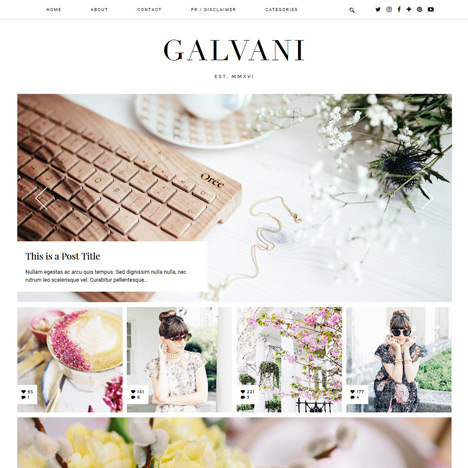 Blogger Template: Galvani