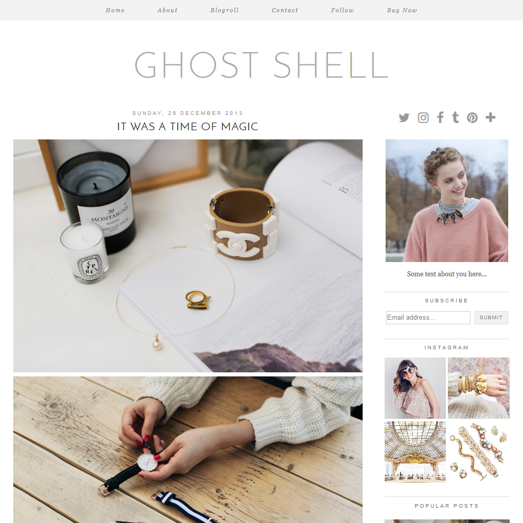 Ghost Shell Blogger Theme