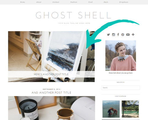 Ghost Shell WordPress Theme with Slider