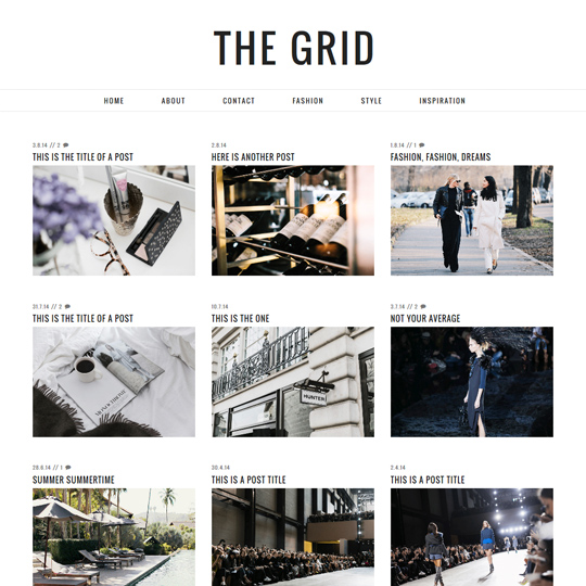 Blogger Template: The Grid