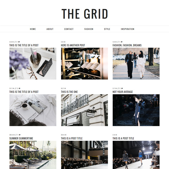 Grid Blogger Templates Grid Layout Blogger Template | Blogspot Grid Theme | pipdig