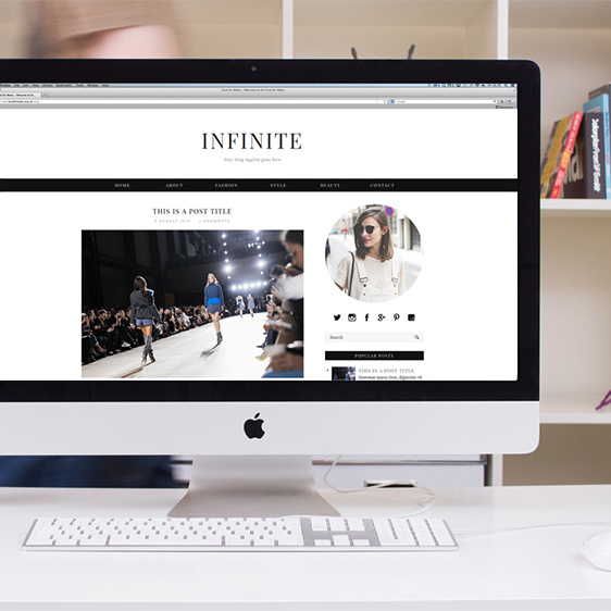 Infinite Blog Template