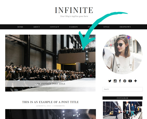Infinite WordPress Theme with Slider