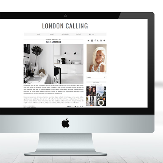 Blogger Template in Grey