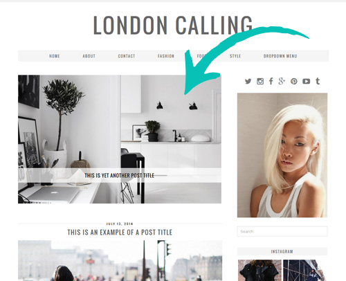 London Calling WordPress Theme with Slider