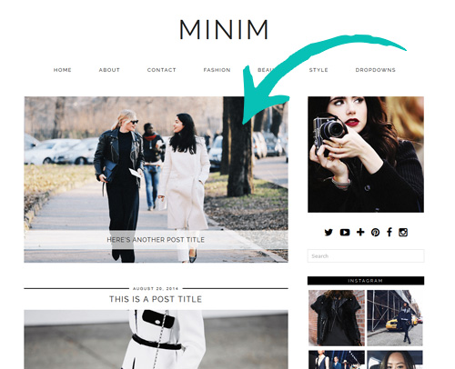 MINIM WordPress Theme slider