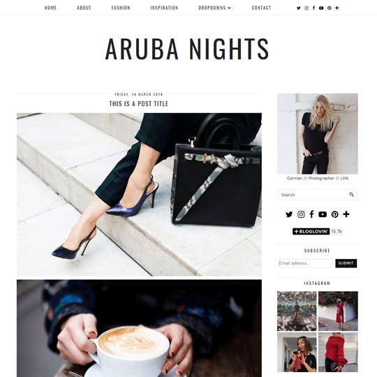 Blogger Template: Aruba Nights