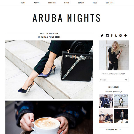 Minimal Blogger Template: Aruba Nights