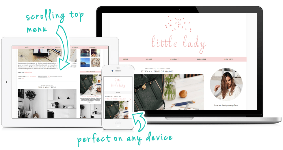 cute Blogger template