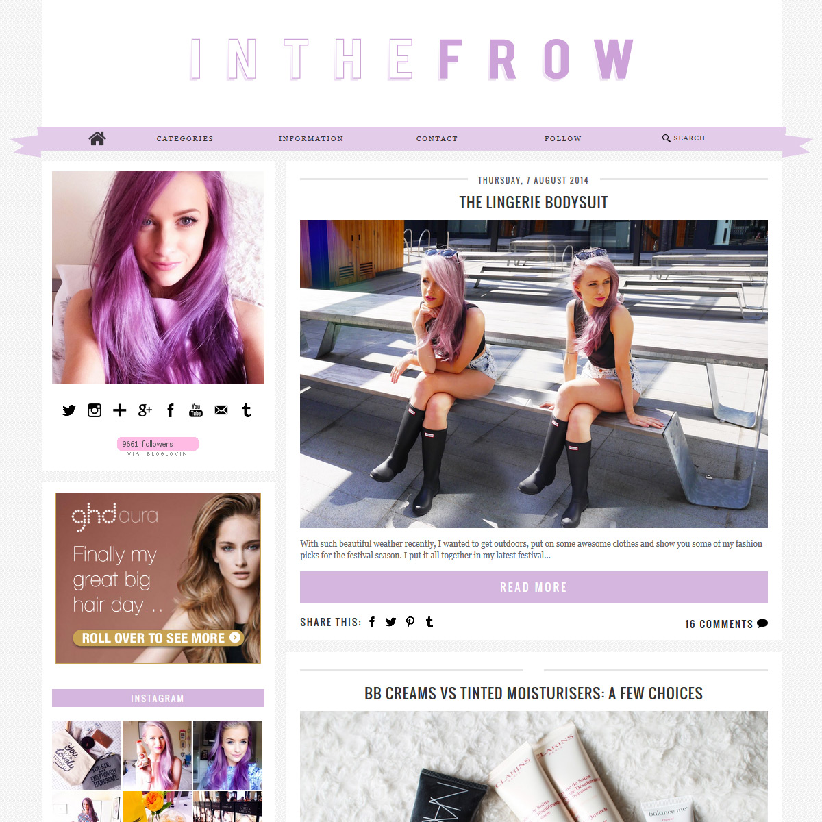 Custom Blogger Template: Inthefrow