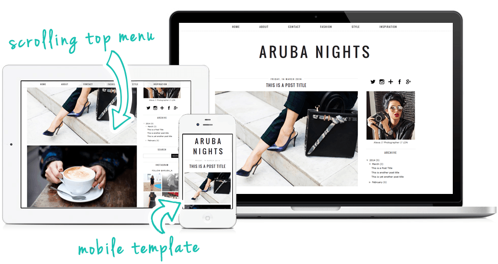 Mobile Blogger Template