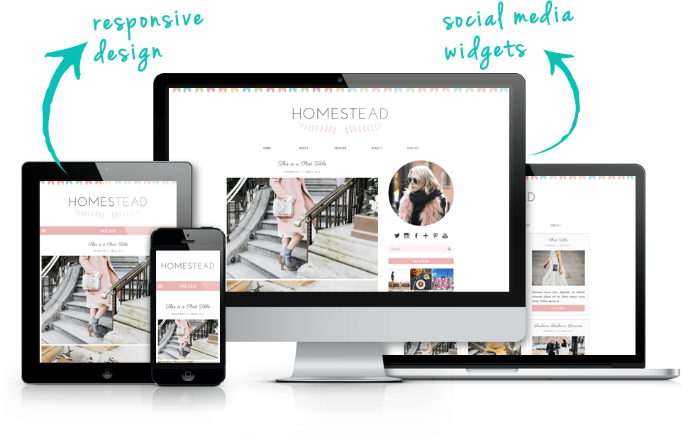 Responsive Grid Blogger Template