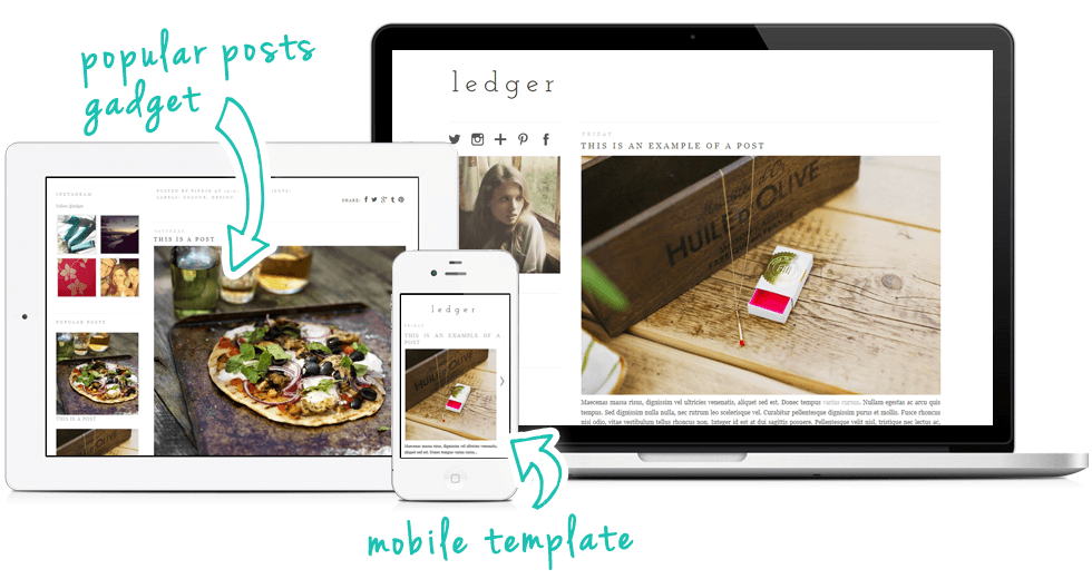 Rustic Blogger Template