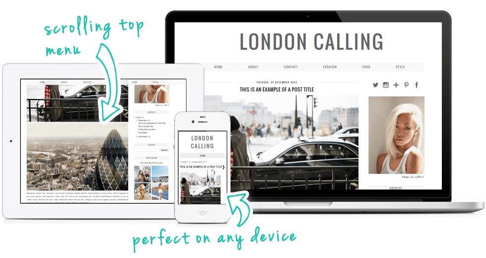 london calling a modern minimal blogger blogspot template