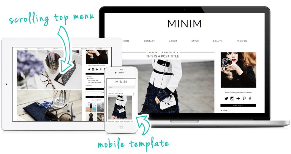 minim a modern minimal monochrome blogger template